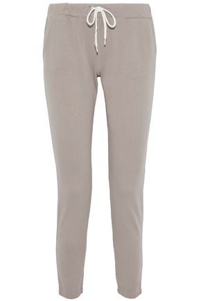 MONROW Jean Yoke cotton-jersey track pants
