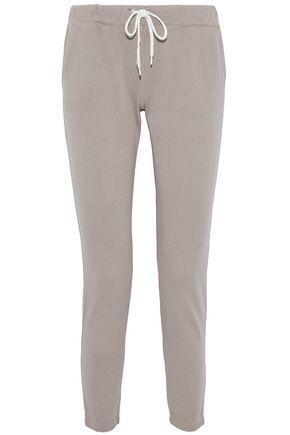MONROW Jean Yoke cotton-jersey track pants
