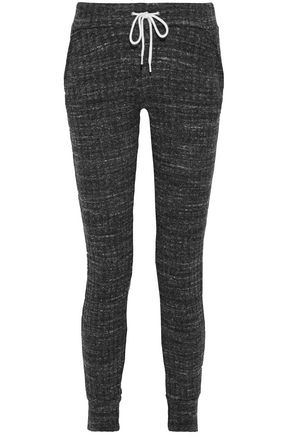 MONROW Mélange ribbed-knit leggings
