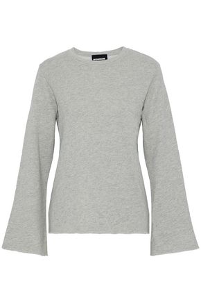 MONROW Cotton-blend terry sweatshirt