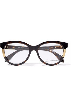 ALEXANDER MCQUEEN Avana cat-eye tortoiseshell acetate glasses