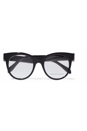 ALEXANDER MCQUEEN Cat-eye acetate glasses