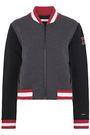 NUYU Embroidered neoprene bomber jacket