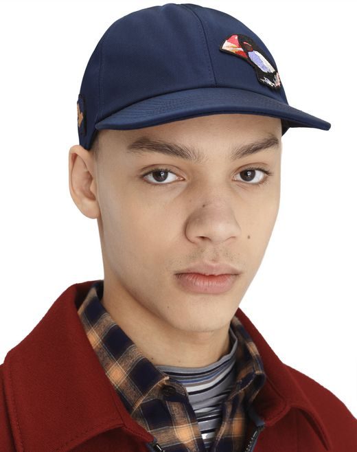 TECHNICAL FABRIC CAP WITH PATCHES - Lanvin