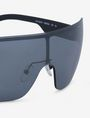 ARMANI EXCHANGE SILVER MIRROR SHIELD SUNGLASSES Sunglass Man d