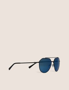 ARMANI EXCHANGE BLUE MIRROR WIRE AVIATOR Sunglass Man f