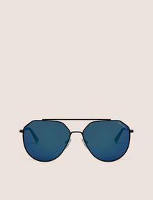 ARMANI EXCHANGE BLUE MIRROR WIRE AVIATOR Sunglass Man r