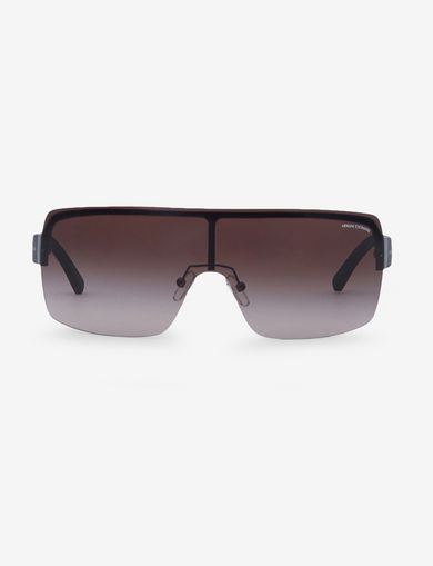TAUPE SHIELD SUNGLASSES