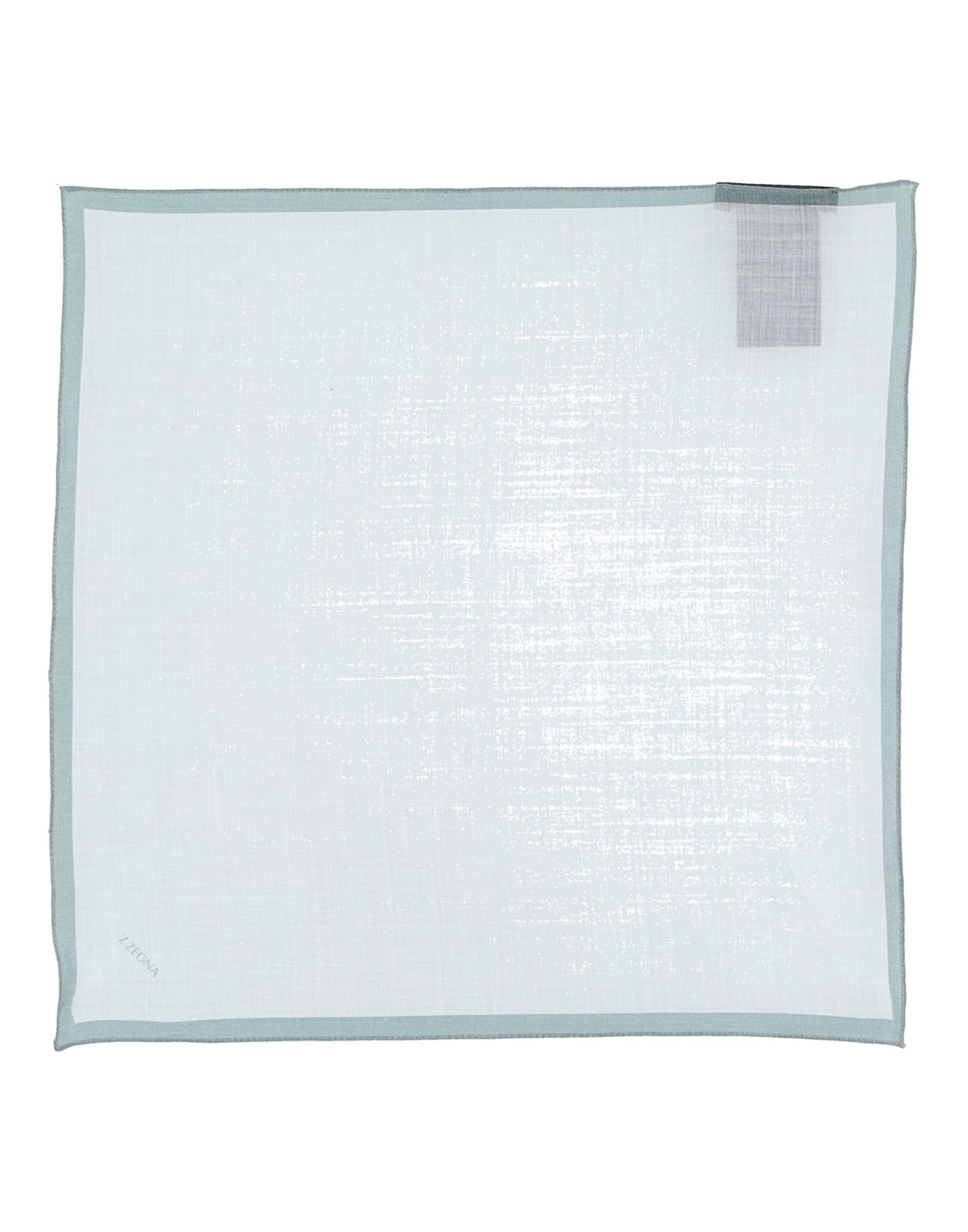 《送料無料》ZZEGNA メンズ スカーフ ホワイト ラミー 100%