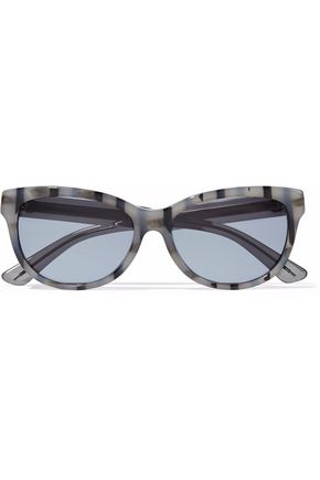 GUCCI Cat-eye printed acetate sunglasses