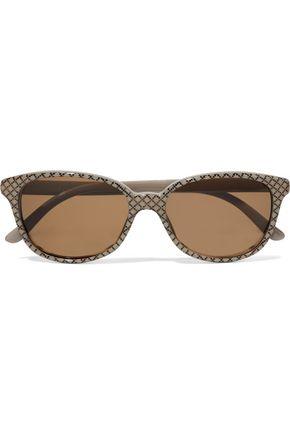 GUCCI Round-frame printed acetate sunglasses