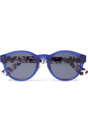 GUCCI Round-frame printed sunglasses