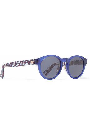 GUCCI Round-frame printed sunglasses