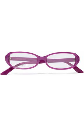 GUCCI Square-frame printed acetate optical glasses