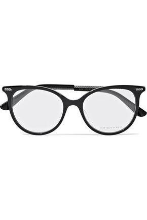 BOTTEGA VENETA Cat-eye acetate optical glasses