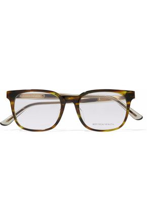 BOTTEGA VENETA Square-frame printed acetate optical glasses