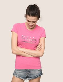 ARMANI EXCHANGE STUDDED SCRIPT LOGO TEE Logo T-shirt Woman a