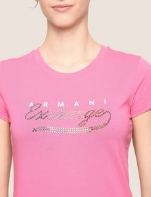 ARMANI EXCHANGE STUDDED SCRIPT LOGO TEE Logo T-shirt Woman b
