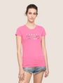 ARMANI EXCHANGE STUDDED SCRIPT LOGO TEE Logo T-shirt Woman f