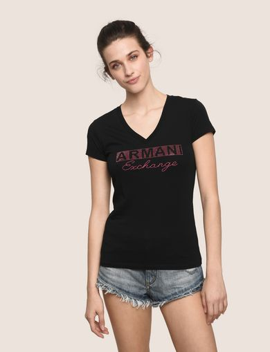 ARMANI EXCHANGE Logo-T-Shirt Damen F