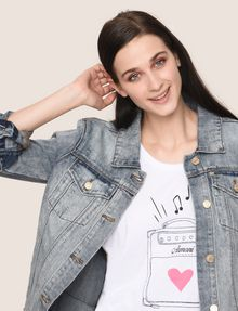 ARMANI EXCHANGE Top estampado Mujer a
