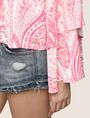 ARMANI EXCHANGE LAYERED BELL-SLEEVE PAISLEY TOP S/L Knit Top Woman b