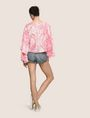 ARMANI EXCHANGE LAYERED BELL-SLEEVE PAISLEY TOP S/L Knit Top Woman e