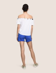 ARMANI EXCHANGE GATHERED OFF-THE-SHOULDER TOP S/S Knit Top Woman e
