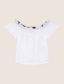 ARMANI EXCHANGE GATHERED OFF-THE-SHOULDER TOP S/S Knit Top Woman r