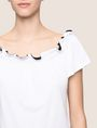 ARMANI EXCHANGE GATHERED OFF-THE-SHOULDER TOP S/S Knit Top Woman b