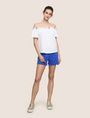 ARMANI EXCHANGE GATHERED OFF-THE-SHOULDER TOP S/S Knit Top Woman d