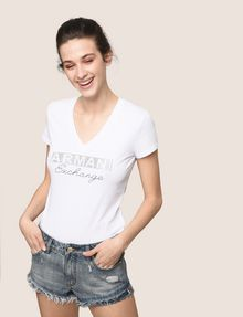 ARMANI EXCHANGE DOUBLE-HEM FRAYED DENIM SHORT Denim Short Woman a
