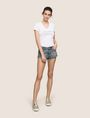 ARMANI EXCHANGE DOUBLE-HEM FRAYED DENIM SHORT Denim Short Woman d