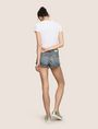 ARMANI EXCHANGE DOUBLE-HEM FRAYED DENIM SHORT Denim Short Woman e