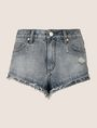 ARMANI EXCHANGE DOUBLE-HEM FRAYED DENIM SHORT Denim Short Woman r