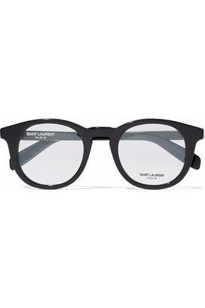 e66ef5b2154 SAINT LAURENT Round-frame acetate optical glasses ...