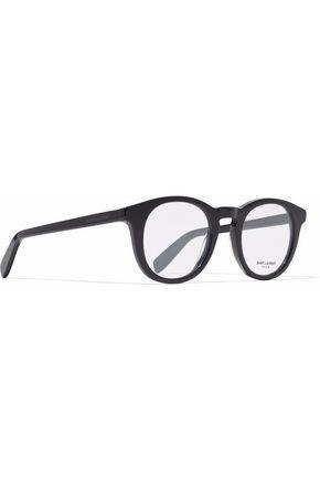 8563eb83445 ... SAINT LAURENT Round-frame acetate optical glasses ...