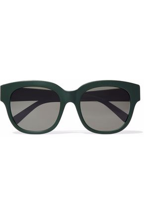 STELLA McCARTNEY Cat-eye chain-trimmed acetate sunglasses