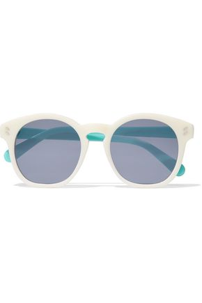 WOMAN CAT-EYE TWO-TONE ACETATE SUNGLASSES CREAM