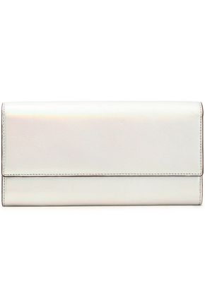 IRO Iridescent patent-leather continental wallet