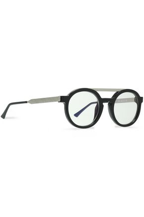 THIERRY LASRY Round-frame acetate and metal sunglasses