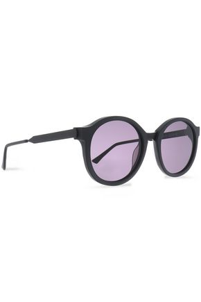 THIERRY LASRY Round-frame printed acetate sunglasses
