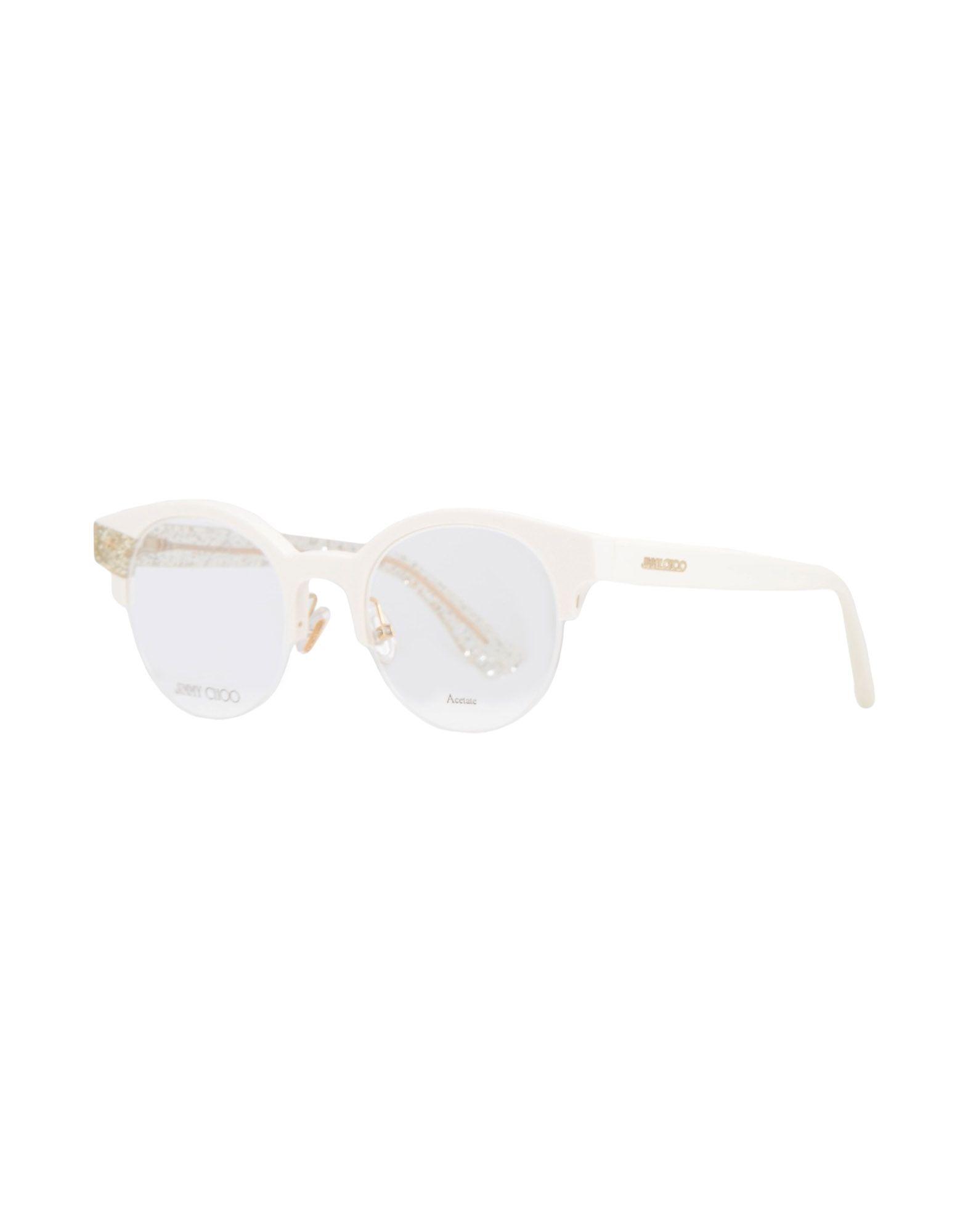 JIMMY CHOO Damen Brille Farbe Weiß Größe 1