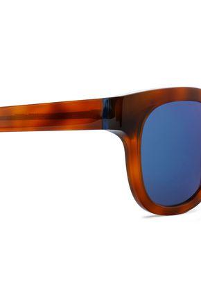 THIERRY LASRY D-frame tortoiseshell acetate mirrored sunglasses