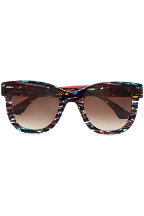 THIERRY LASRY D-frame printed acetate sunglasses