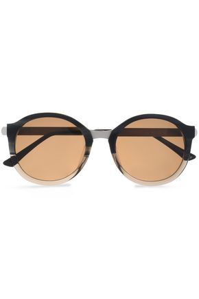 THIERRY LASRY Round-frame oxidized metal sunglasses