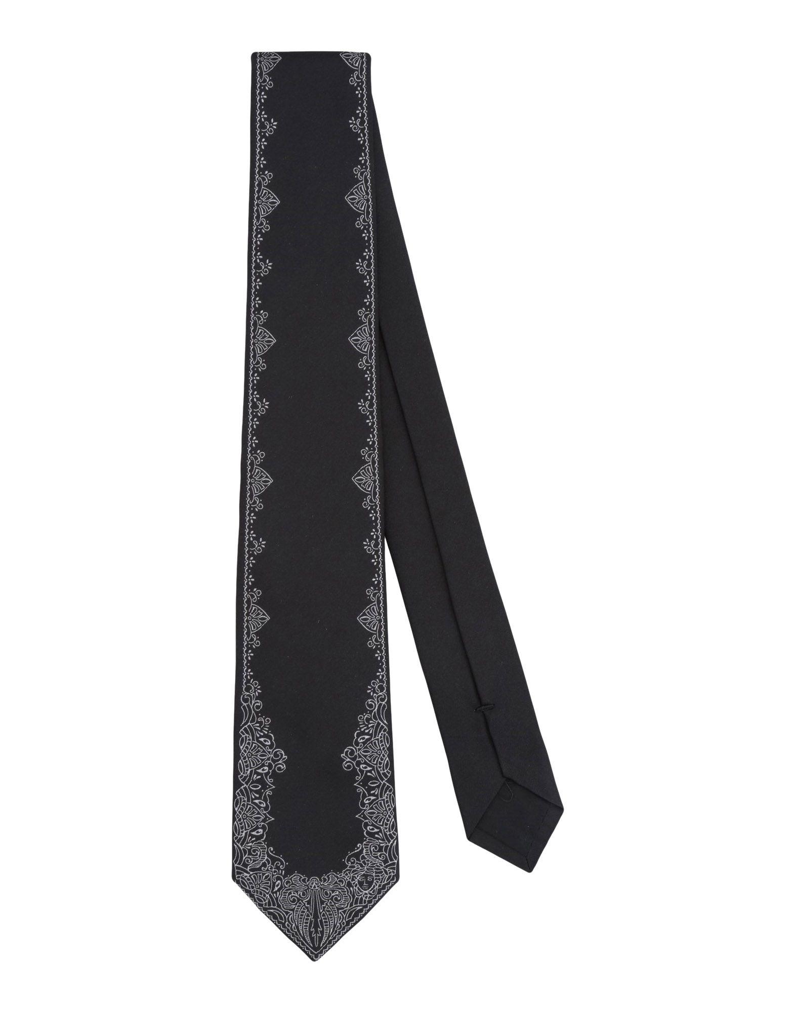 VERSACE Галстук versace бордовый галстук в клетку внизу с логотипом versace 821752 page 3