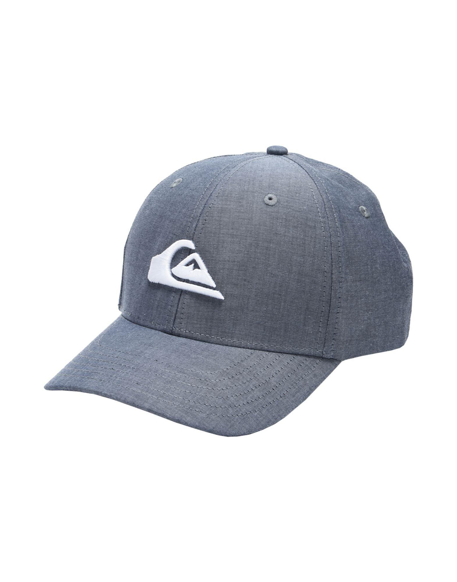 《送料無料》QUIKSILVER メンズ 帽子 ブルーグレー one size コットン 100% QS Cappellino Charger Plus