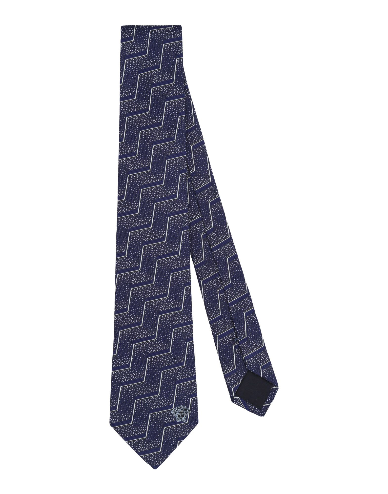 VERSACE Галстук versace бордовый галстук в клетку внизу с логотипом versace 821752 page 1