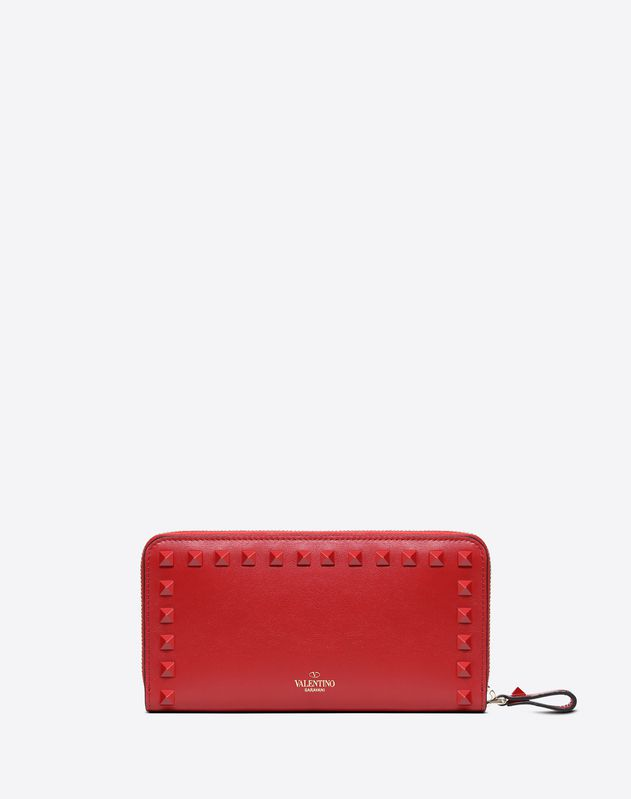 Lacquer Rockstud Continental Wallet